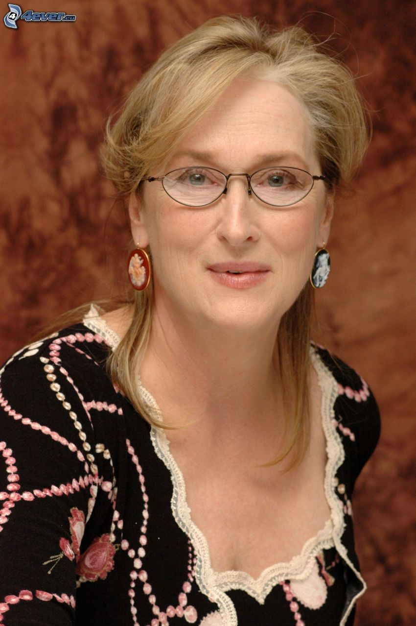 Meryl Streep, kobieta w okularach