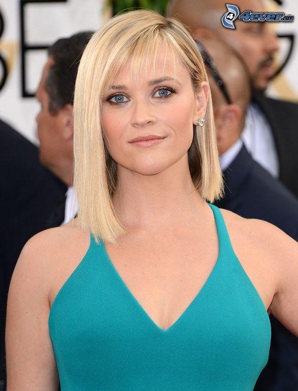 Reese Witherspoon, turkusowa sukienka