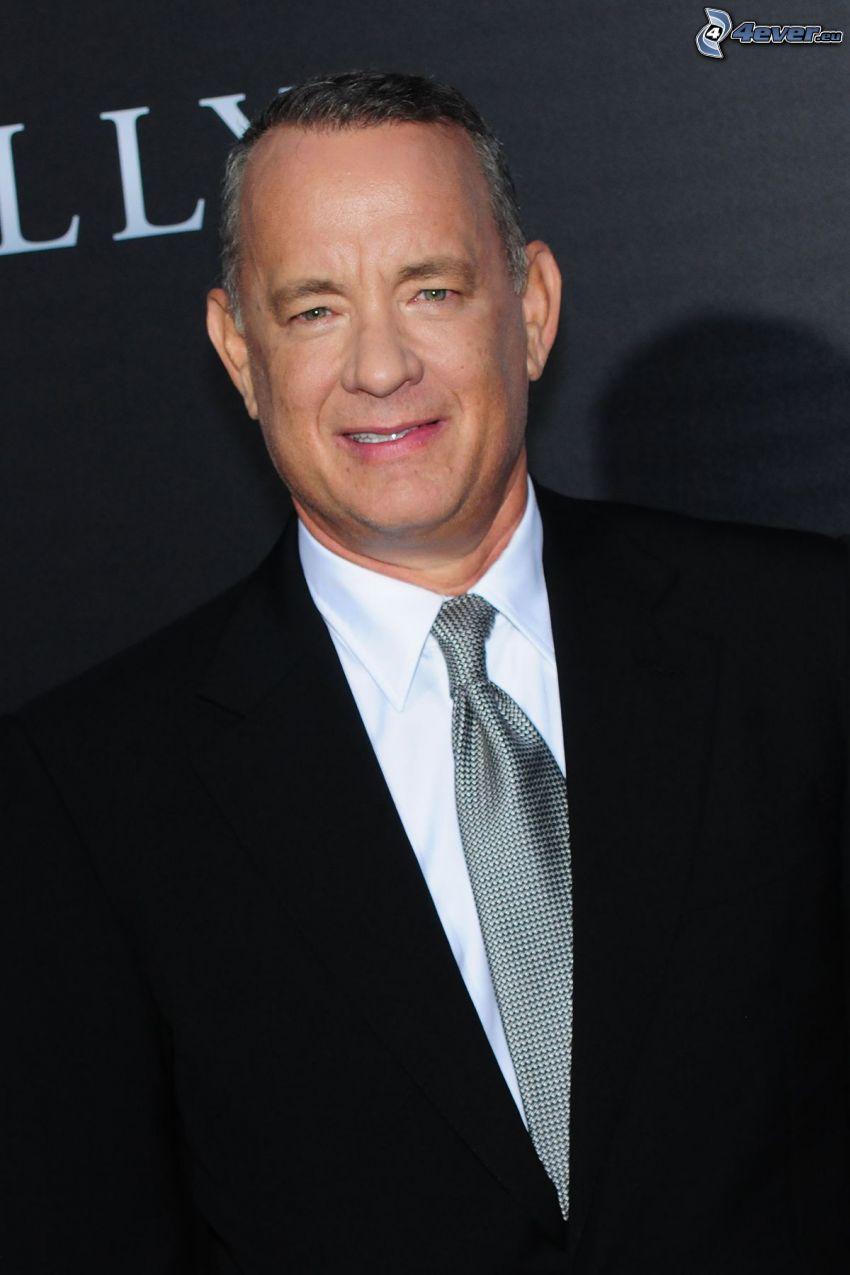 Tom Hanks, mężczyzna w garniturze