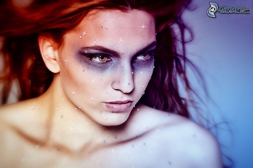rudowłosa, diamenty
