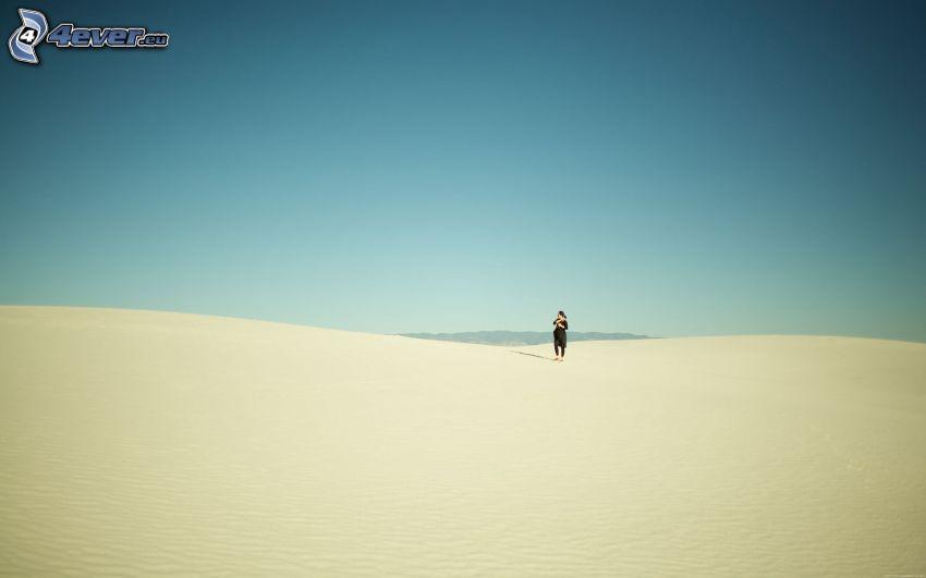 człowiek, pustynia