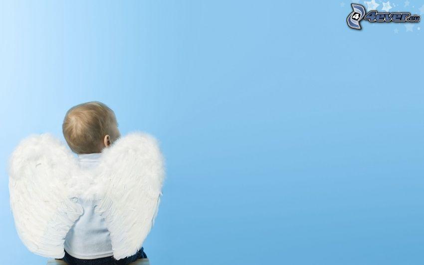 aniołek, chłopczyk, dziecko
