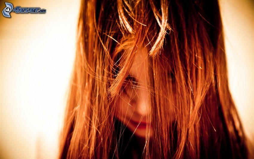 dziewczyna, włosy