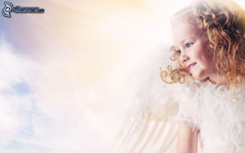 dziewczynka, aniołek