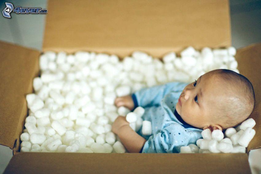 niemowlę, pudełko