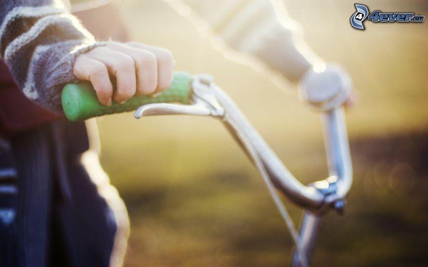 ręce, rower