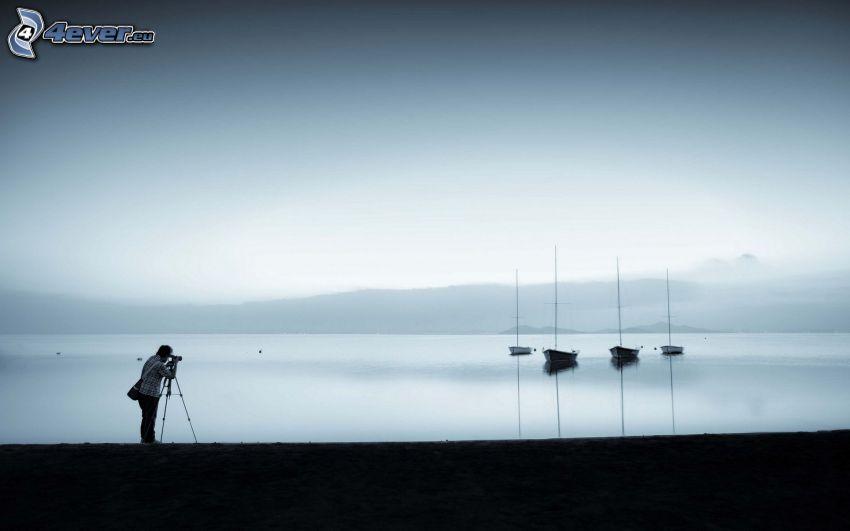fotograf, łódki