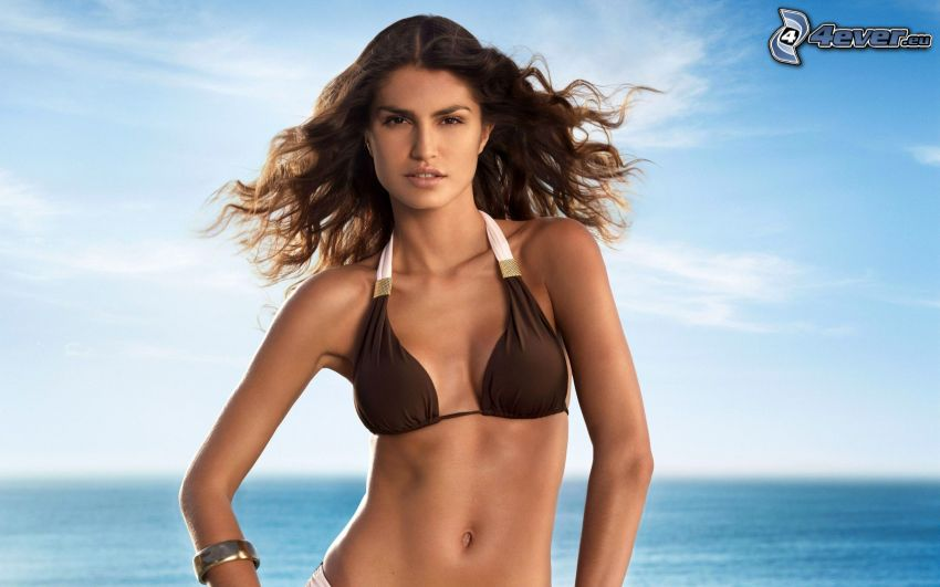 Juliana Martins, modelka, kobieta w bikini, brunetka