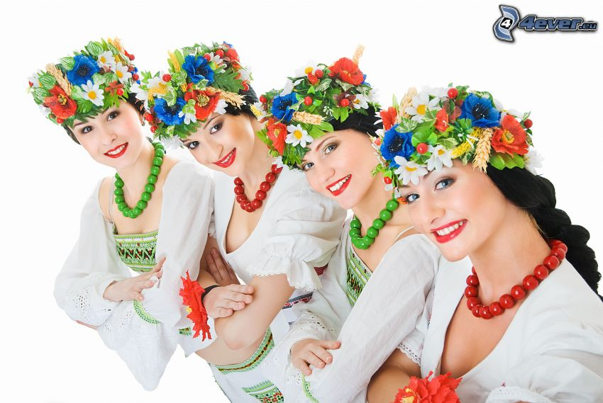 kobiety, strój folklorystyczny