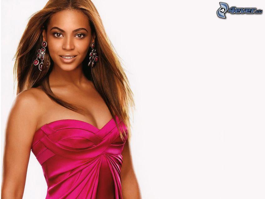Beyoncé Knowles, różowa sukienka