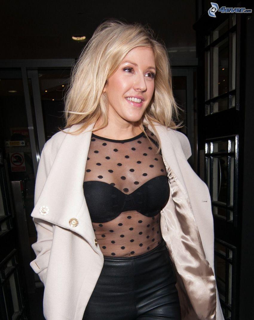Ellie Goulding, uśmiech, spojrzenie