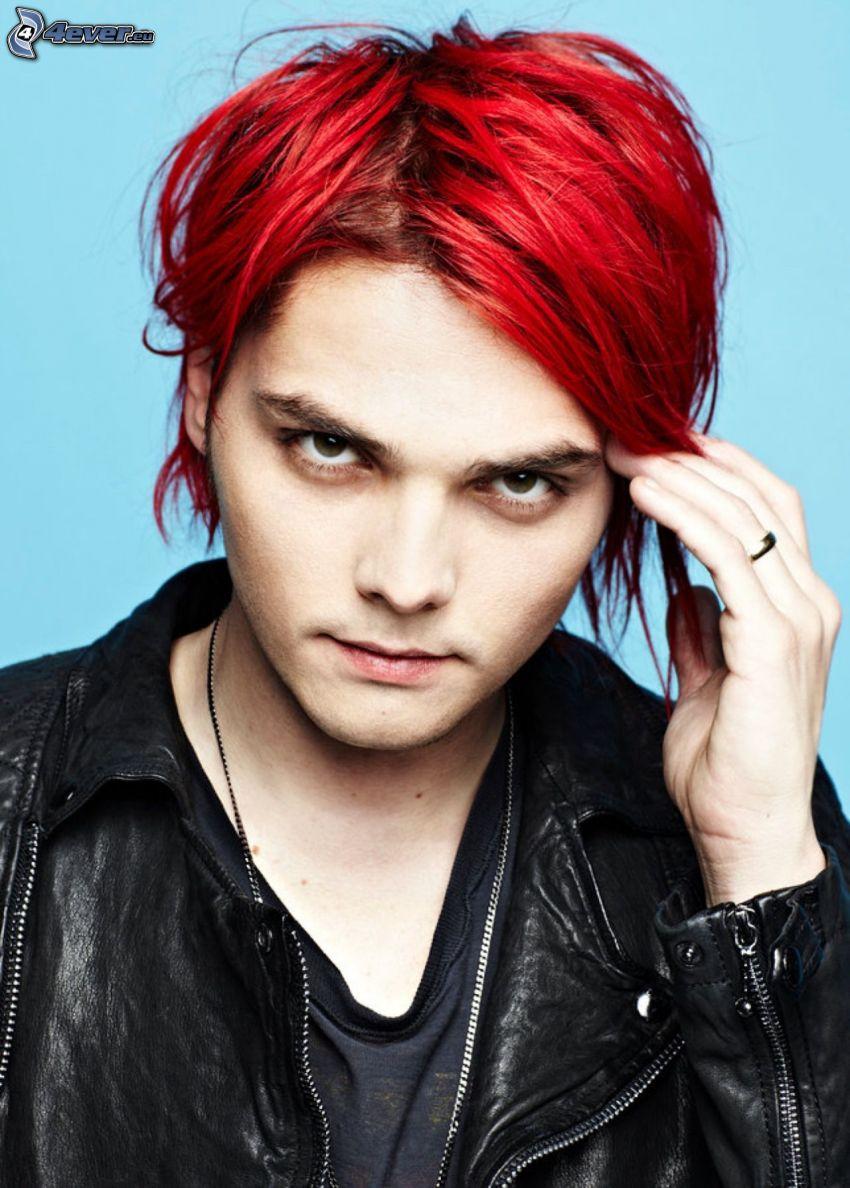 Gerard Way, czerwone włosy