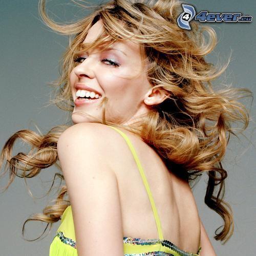 Kylie Minogue, piosenkarka, włosy
