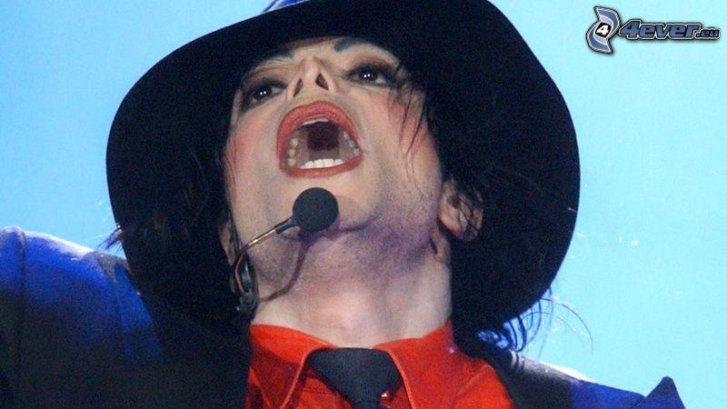 Michael Jackson, facet, kapelusz, piosenkarz