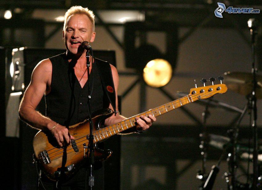 Sting, elektryczna gitara