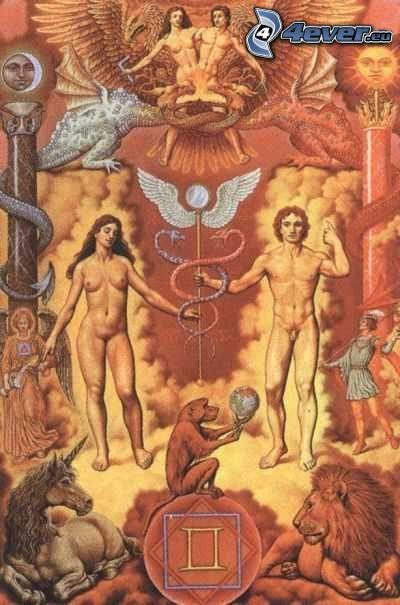 obraz, mężczyzna i kobieta