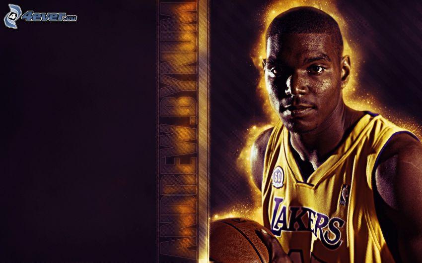 Andrew Bynun, LA Lakers, NBA, koszykarz, koszykówka, sport, mężczyzna, facet, piłka