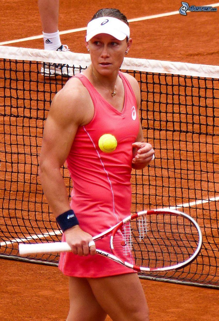 Samantha Stosur, tenisistka, piłeczka tenisowa, rakieta tenisowa