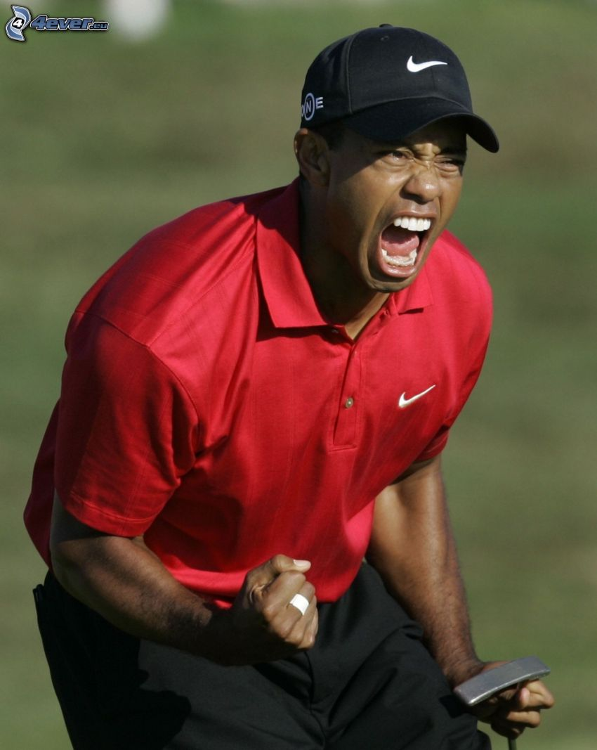 Tiger Woods, krzyk
