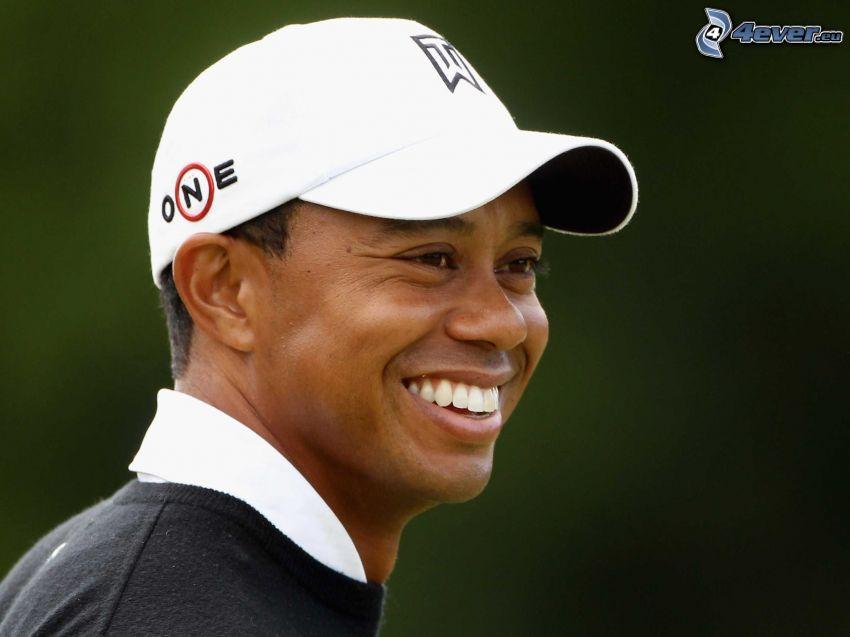 Tiger Woods, uśmiech