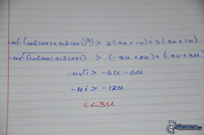 I <3 U, matematyka