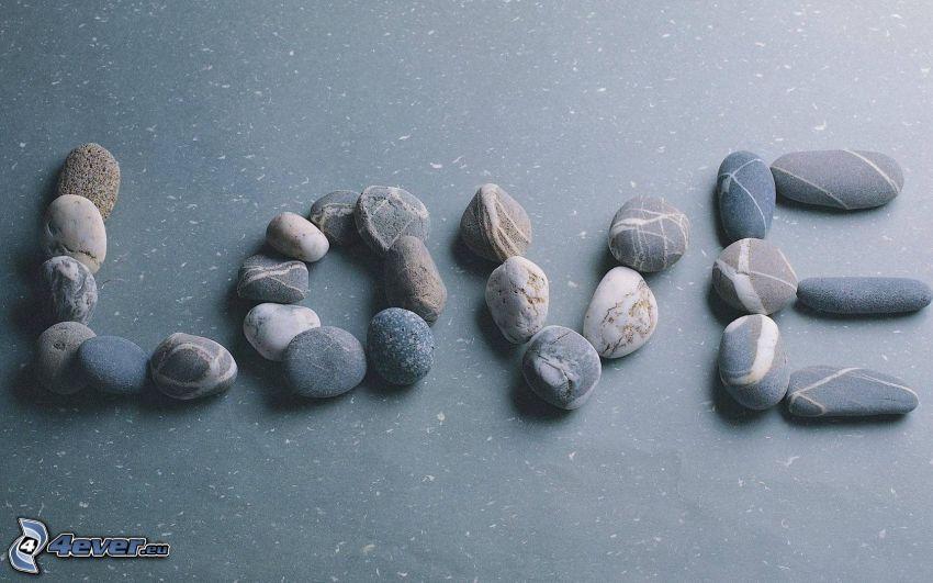 miłość, kamienie
