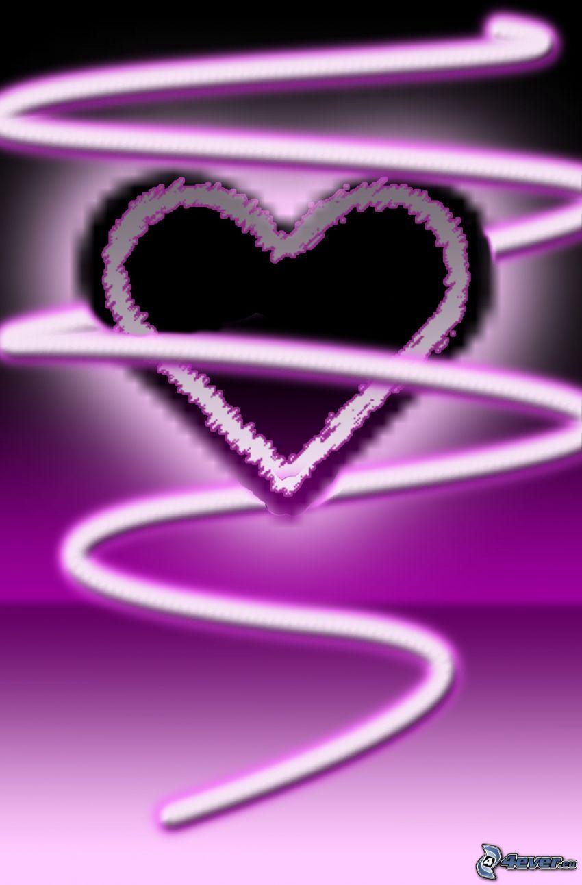 fioletowe serce