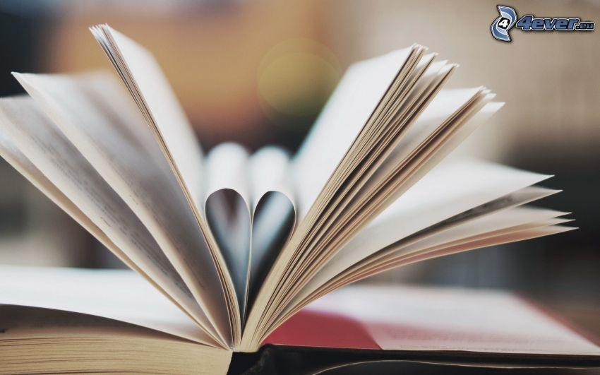 książka, serduszko