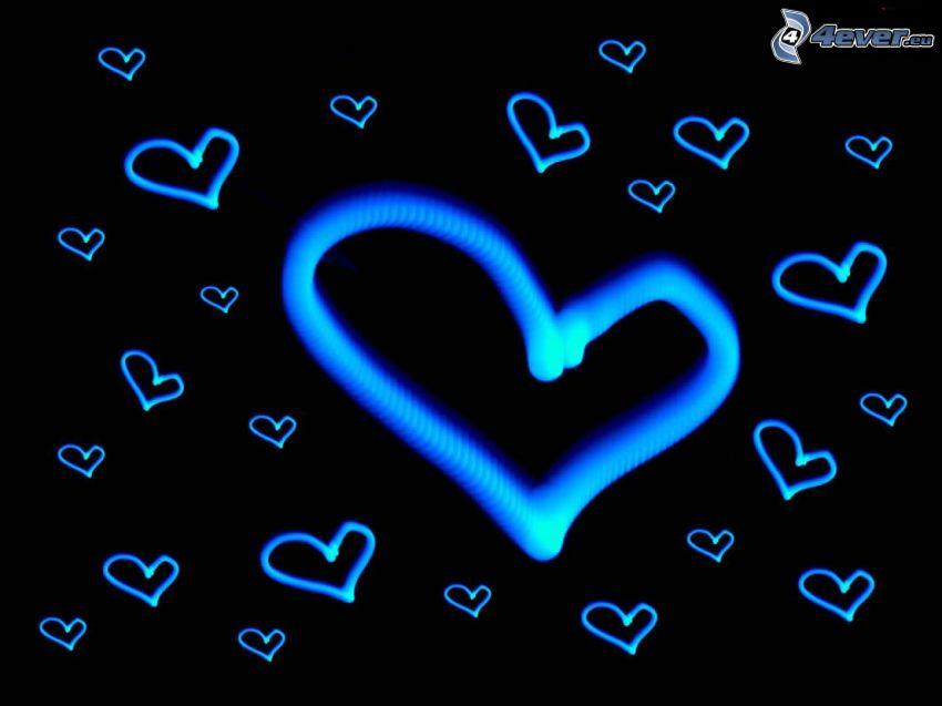 niebieskie serduszka