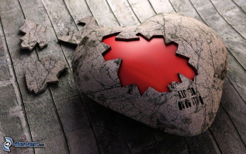 popękane serce