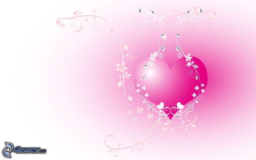 różowe serce