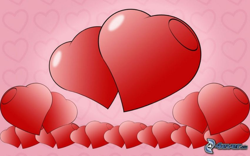 rysunkowe serca