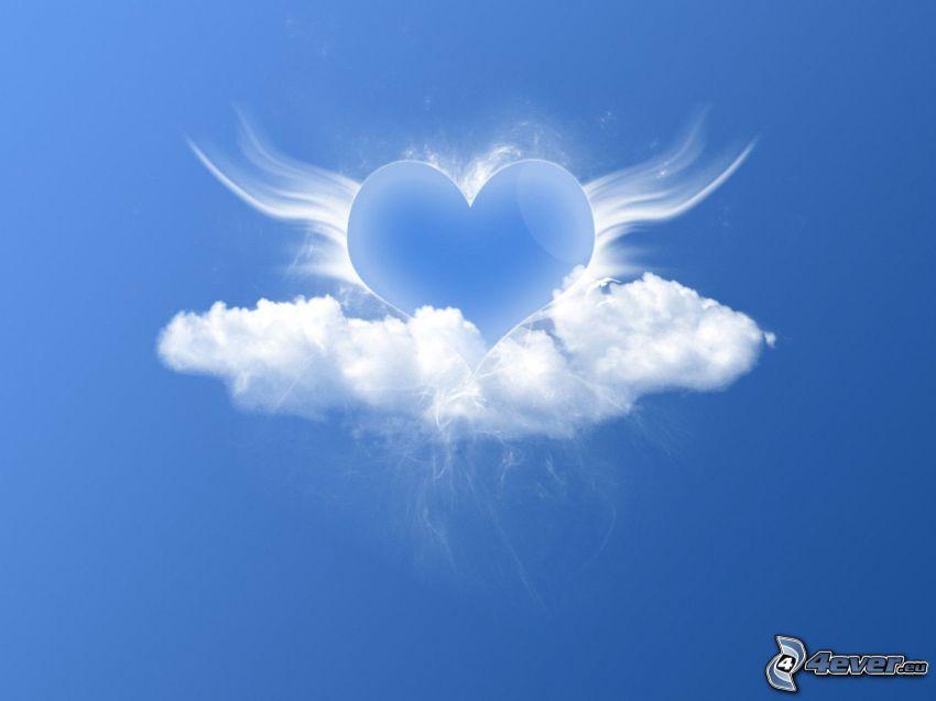 serce na niebie, chmura
