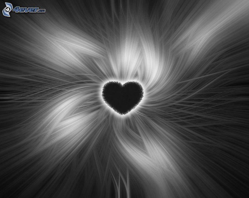 serce w środku