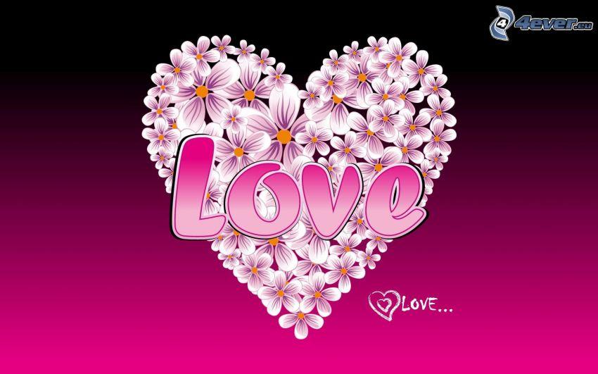 serce z kwiatów, love
