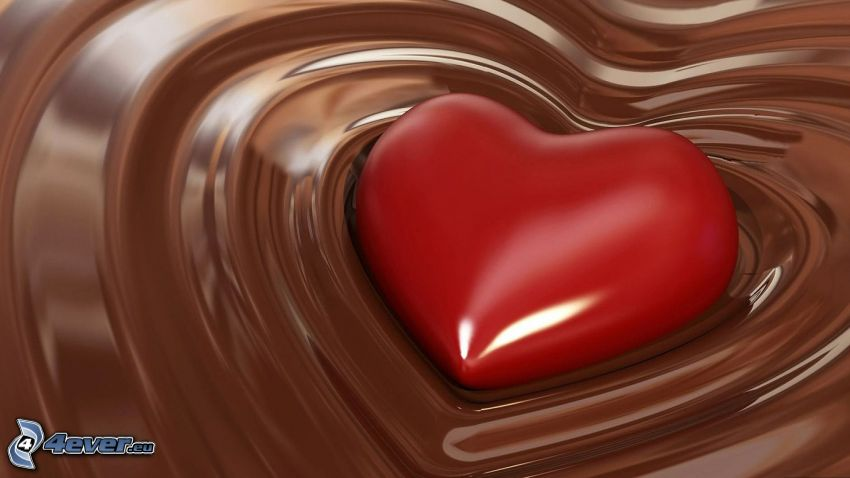 serduszko, czekolada