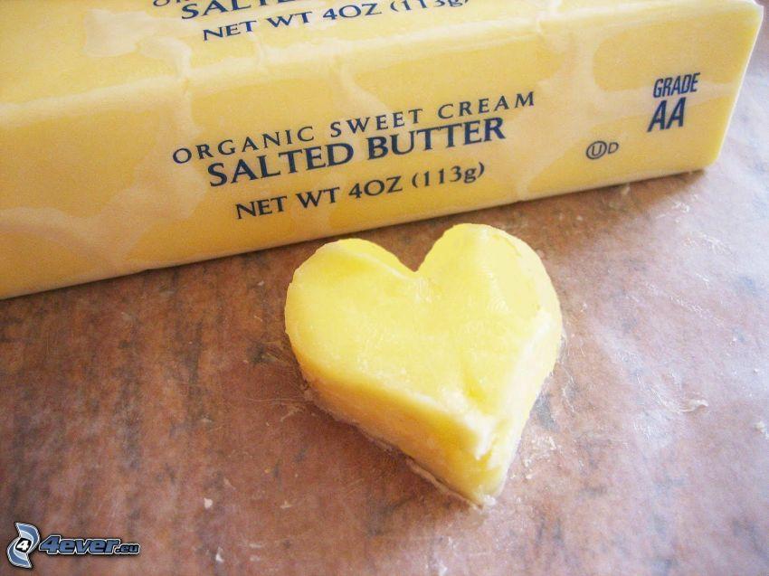serduszko, masło