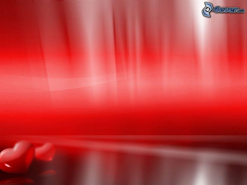 walentynkowe czerwone serca, czerwone tło
