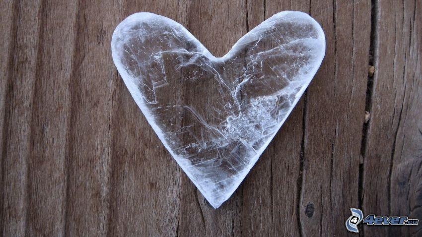 zamarznięte serce, drewno