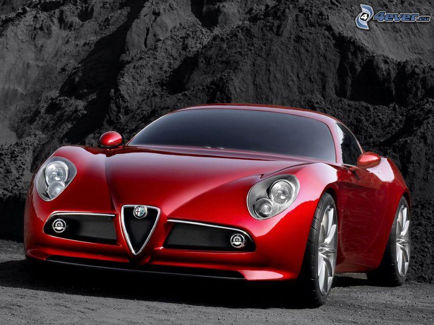 Alfa Romeo 8C, sportowe auto, projekt