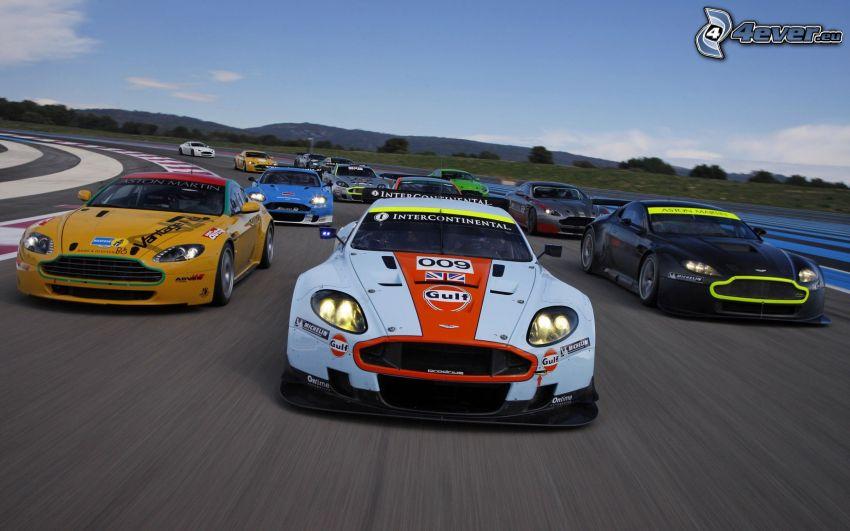 Aston Martin, wyścigi, auta wyścigowe, wyścigi, torowe, prędkość