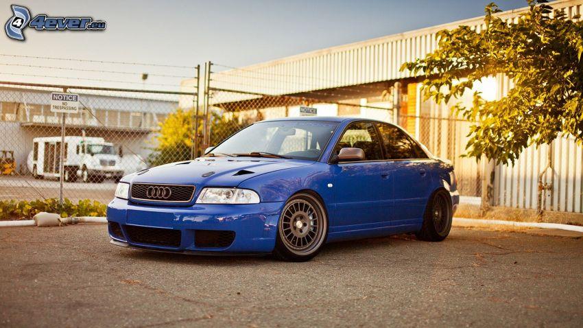 Audi S4, tuning, płot