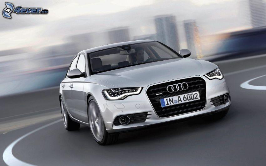 Audi S6, zakręt, prędkość