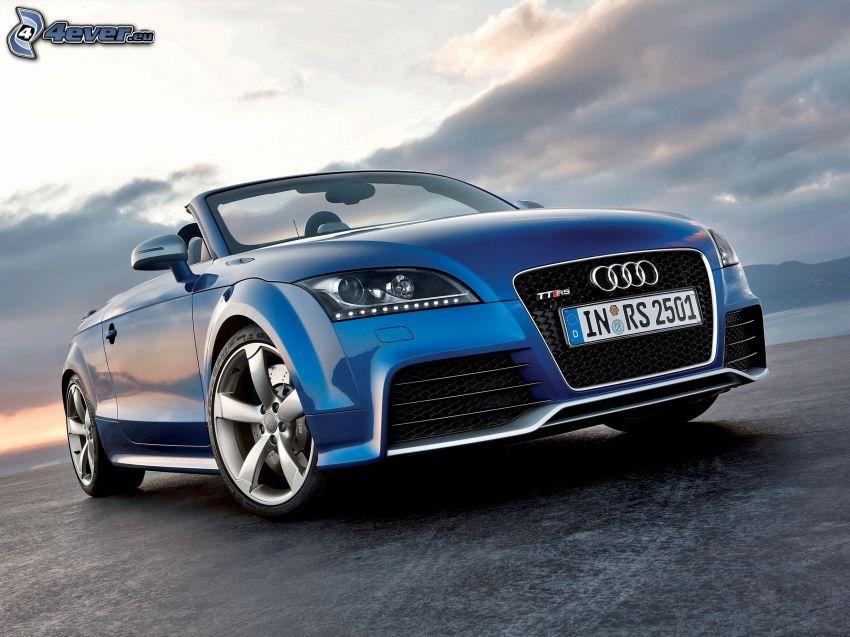 Audi TT, kabriolet, chmury