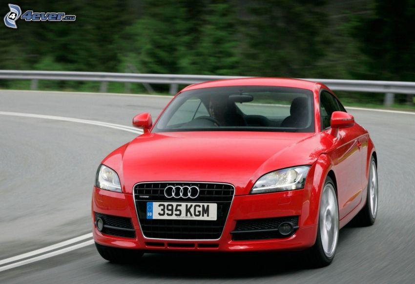Audi TT, zakręt, prędkość