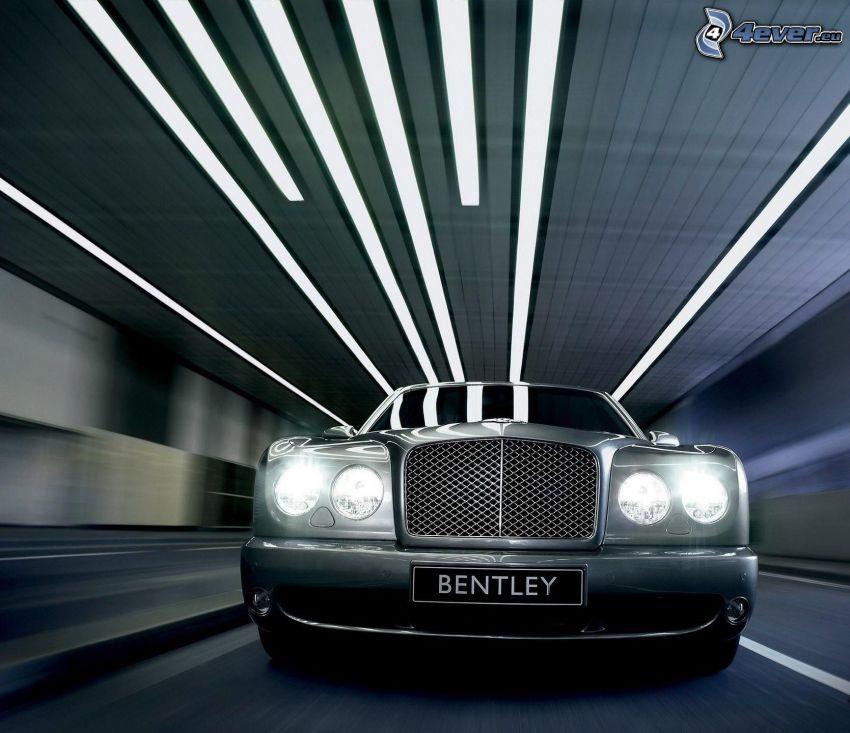 Bentley, prędkość, tunel