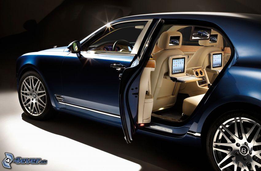 Bentley Mulsanne, błyskot, drzwi, wnętrze, ekrany