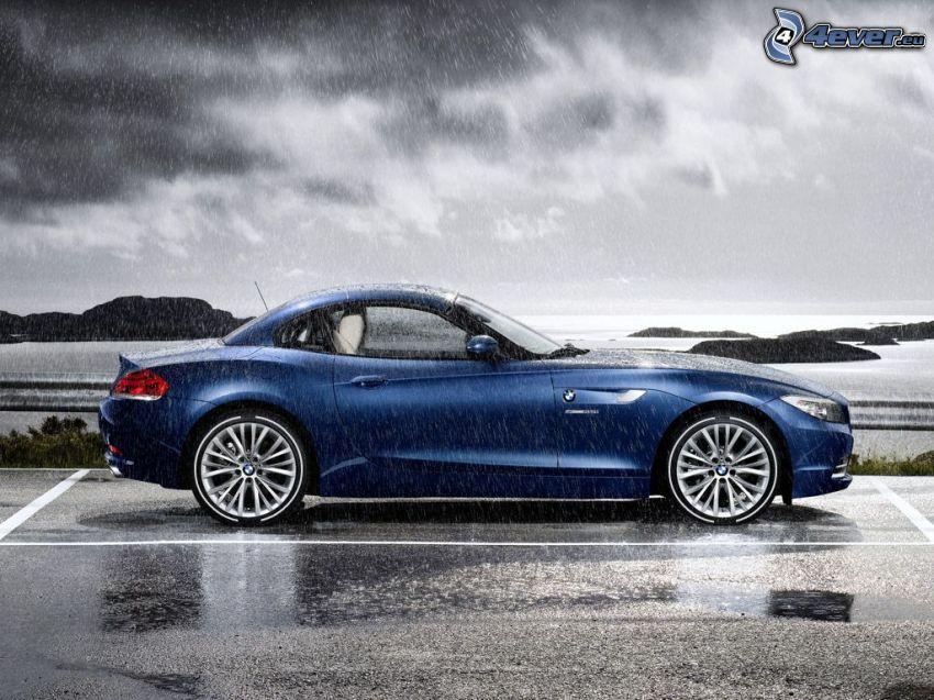 BMW Z4, deszcz