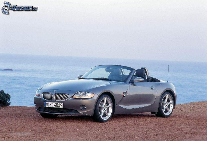 BMW Z4, kabriolet, morze