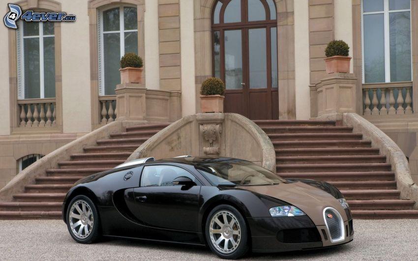 Bugatti Veyron, schody, drzwi